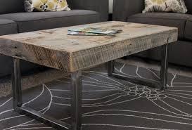 reclaimed wood coffee table steel
