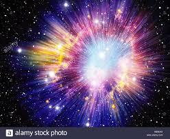 Big Bang, imagen conceptual equipo ilustración que representa el ...