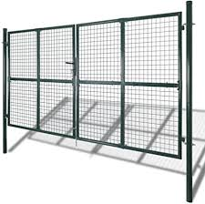 Roderick Irving Galvanised Steel Mesh Fence Gate With Powder Coated Finish 289 X 175cm Dark Green Mesh Fencing 306 X 225cm Dark Green Mesh Fencing Amazon Co Uk Garden Outdoors
