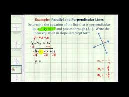 equation of a line perpendicular to