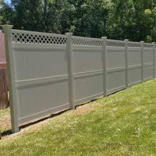Weatherables Ashton 8 Ft H X 6 Ft W Khaki Vinyl Privacy Fence Panel Kit Pkpr Lat 8x6 The Home Depot