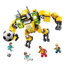 Bộ đồ chơi xếp hình robot và cầu thủ bóng đá Qimeng 3001 147 miếng giảm chỉ  còn 128,504 đ