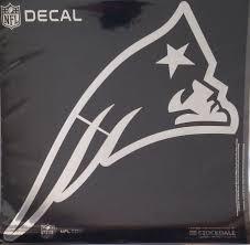 6 Silver Crawford Graphix New England Patriots Window Logo Decal Sticker