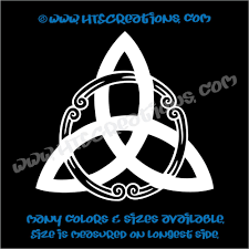 Celtic Trinity Knot Irish Dance Ireland Religious Church Triangle Car Vinyl Decal