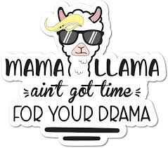 Amazon Com Mama Llama Aint Got Time For Your Drama Sticker Decal Laptop Funny Joke Automotive