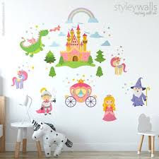 Princess Wall Decal Fairy Tales Wall Decal Prince Knight Etsy