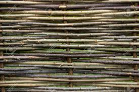 Natural Tree Trunk Texture Fence Of Wooden Twigs Garden Decor Stock Photo Picture And Royalty Free Image Image 95080408