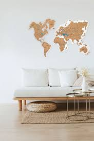 Map Push Pins Map For Wall World Map Wall Map Cork Board Etsy In 2020 Map Wall Decor Decor Country House Decor