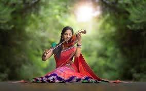 HD wallpaper: Indian girl, violin, music, road | Wallpaper Flare