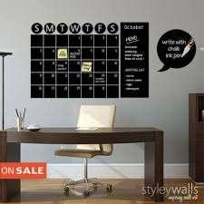 Chalkboard Calendar Decals Chalk Board Wall Calendar Vinyl Wall Decal Styleywalls On Artfire