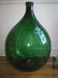 demi john green glass jug carboy