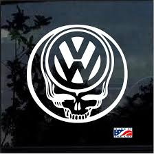Vw Volkswagen Skull Jdm Car Window Decal Stickers Custom Sticker Shop