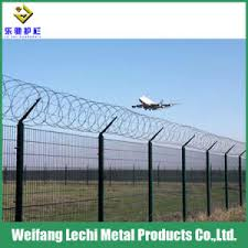 China High Security Top Barbed Wire Chain Link Fence For Airport Prison Highway Football Field China Fence Mesh