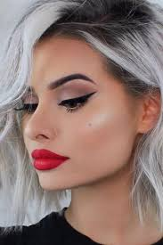 y makeup with red lipstick picture 6