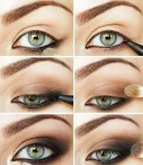 step smokey eye makeup for green eyes