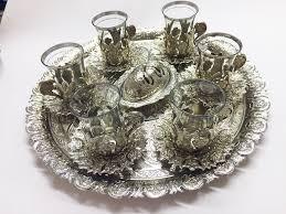 ottoman turkish tea glasses gift set