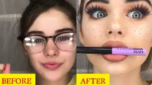 before and after makeup insram