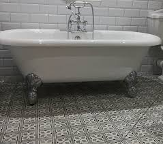 victorian style bathroom with metro