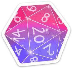 D20 Sticker Bi Pride Etsy