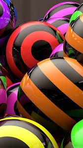 1080x1920 3d line balloon stripe bright