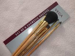 vega set of 5 cosmetic brushes review