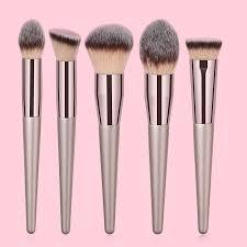 5 pcs big and fluffy makeup brush set