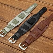 band watchband pu leather strap 18mm