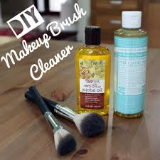 diy organic makeup brush cleaner