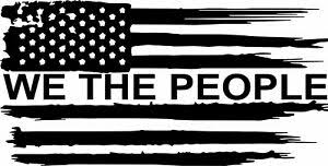 American Flag We The People Tattered Vinyl Decal Sticker Car Truck Window Ebay