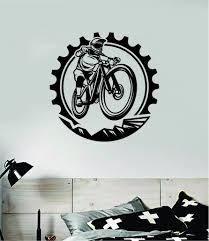Bmx Biker Gear Wall Decal Home Room Decor Vinyl Art Sticker Sports Tee Boop Decals