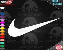 Nike Swoosh Decal Etsy