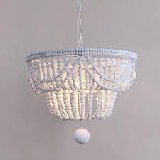 wooden bead classic metal pendant light