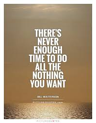 there s never enough time to do all the nothing you want picture