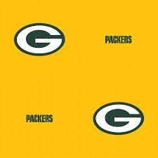 green bay packers logo pattern yellow