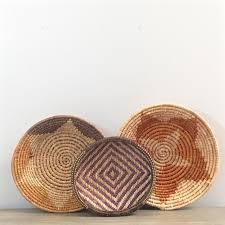 woven wall basket set coiled sisal