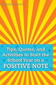 tips quotes and activities to start the school year on a