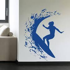 Hot Surfer Girl Woman Surfing Wall Decal Art Home Decoration Wall Sticker Sign Vinyl Mural Es 58 Surf Wall Decals Wall Stickerdecorative Wall Stickers Aliexpress