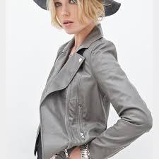 hp faux leather jacket cobalt