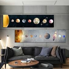 Big Discount E0e3 Nordic Modern Colorful Stars Space Planet Canvas Painting Posters And Prints Wall Pictures For Kids Room Nursery Home Decoration Cicig Co