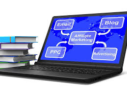 Affiliate Marketing Laptop Map Showing Email Blog PPC And ...