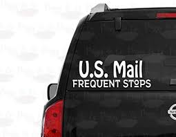 Amazon Com Celycasy U S Mail Frequent Stops Car Window Decal 4 5 6 7 8 9 10 Rural Carrier Window Sticker Baby