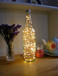 glass bottle lamp fairy light bottle