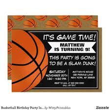 Basketball Birthday Party Invitation Fans Zazzle Com