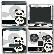 Cute Panda Animal Design Black And White Art Video Game Vinyl Decal Skin Sticker Cover For Nintendo Gba Sp Gameboy Advance System Wantitall