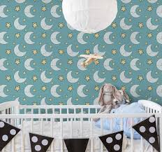 Stars And Moon Childrens Wallpaper Tenstickers