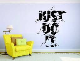 Just Do It Wall Mural Vinyl Decal Sticker Decor Car Quote Sport Sneackers Nike For Sale Online