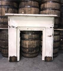 antique wood fireplace mantel surround