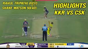 KKR vs CSK Full Highlights IPL 2020 ...