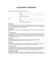 best consignment agreement templates