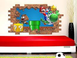 Super Mario Wall Decal Window Nursery Decor C2141 Super Mario Game Room Removable Vinyl Sticker